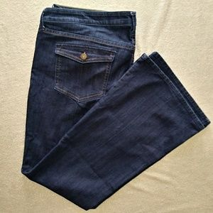Old Navy Low Rise Dark Wash Boot Cut Jeans Sz 18